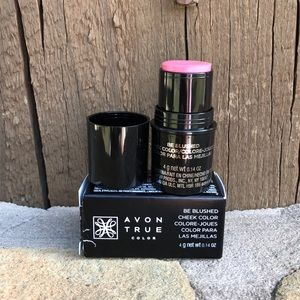 """AVON """"be blushed"""" cheek-color in pink melon/rose"""